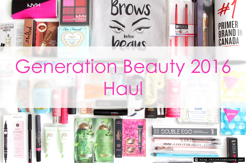 Generation Beauty by ipsy 2016 Toronto Haul | GenBeauty