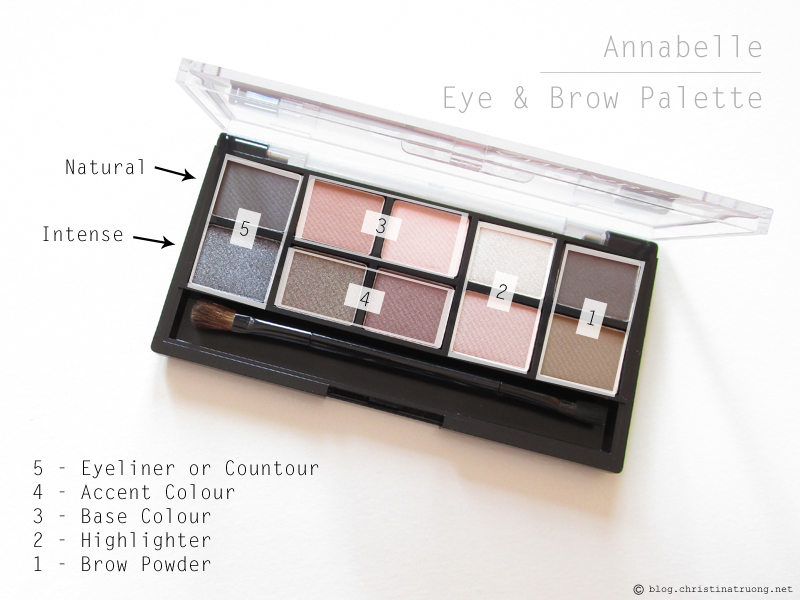 Annabelle Cosmetics Eye and Brow Palette Review and Swatches