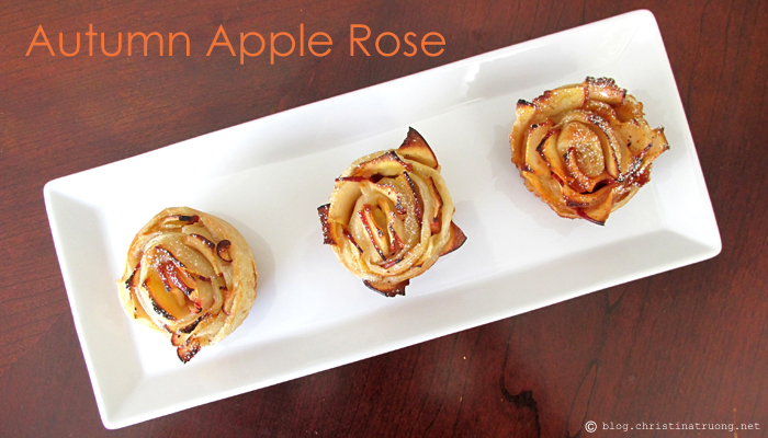 Autumn Apple Rose. Easy treats for Fall. Perfect Recipe for Thanksgiving