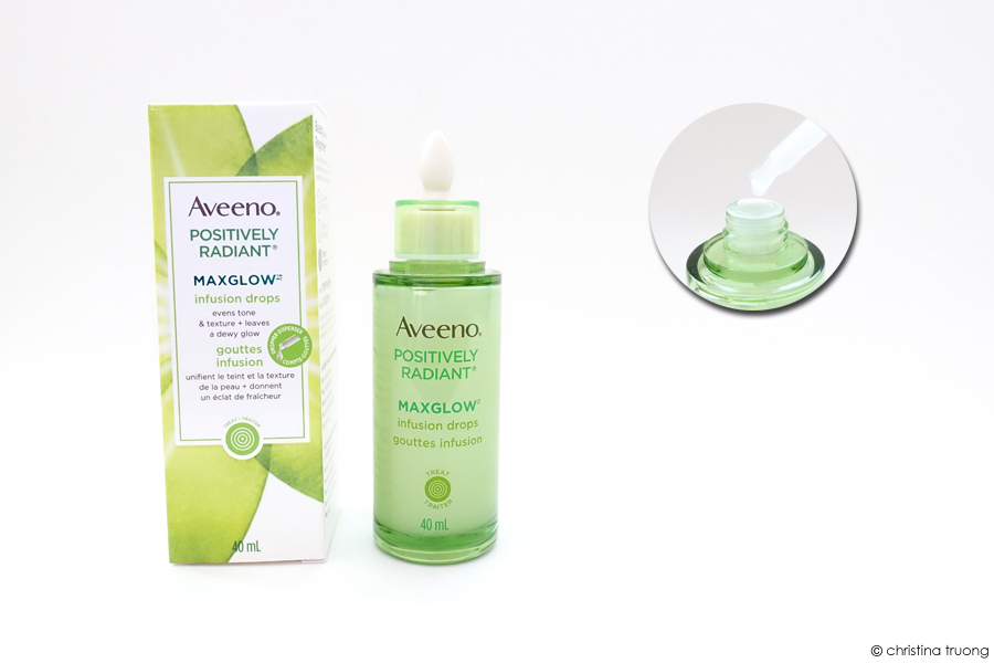 Aveeno Positively Radiant Maxglow Infusion Drops Skincare Review