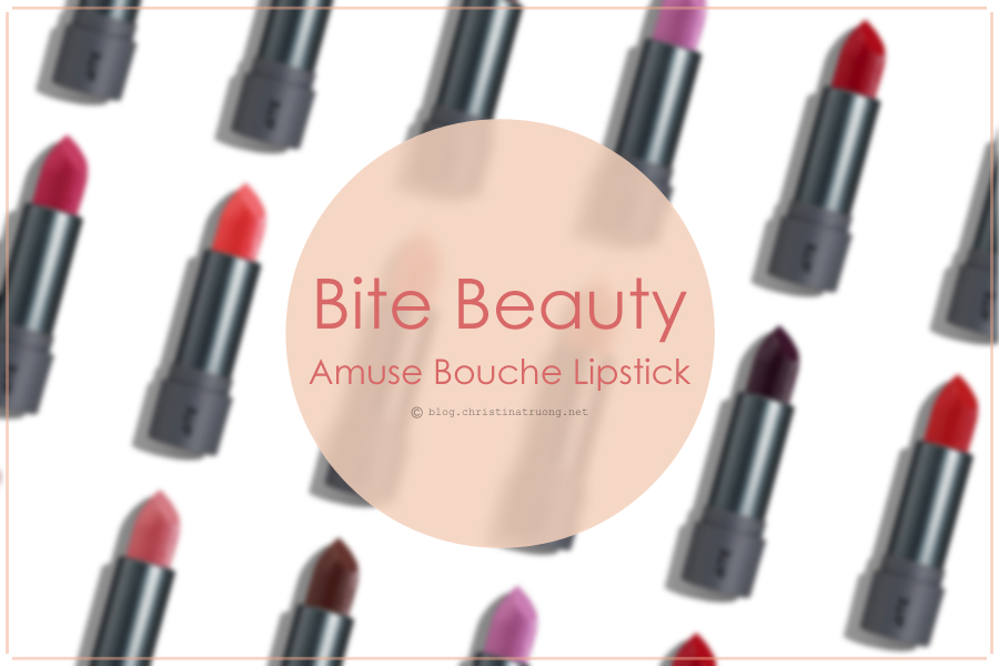 BITE Beauty Amuse Bouche Lipsticks Review and Swatches