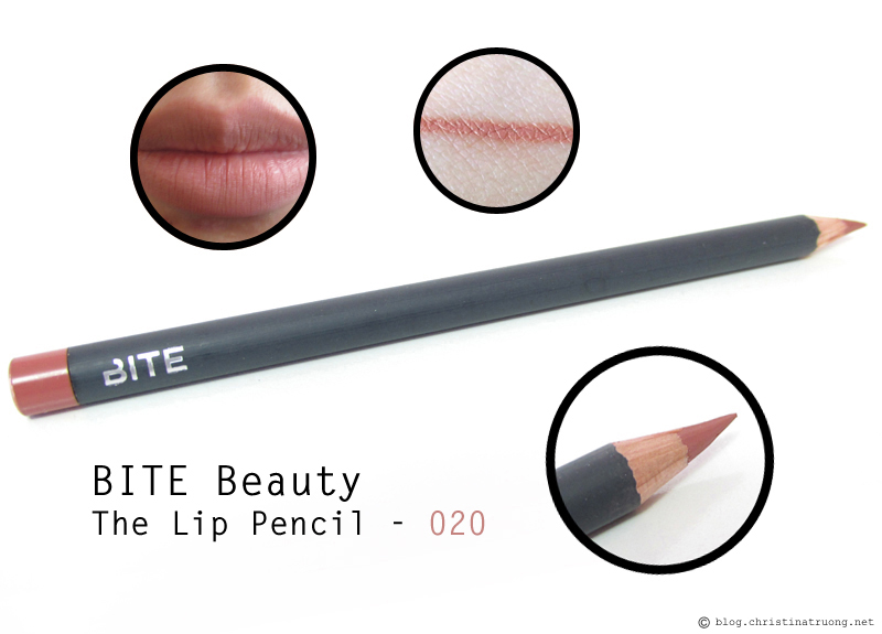 BITE Beauty The Lip Pencil in 020 first impression review and swatches