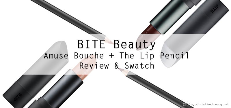 BITE Beauty The Lip Pencil in 020 and 044 and Amuse Bouche Lipstick in Honeycomb and Whiskey first impression review and swatches