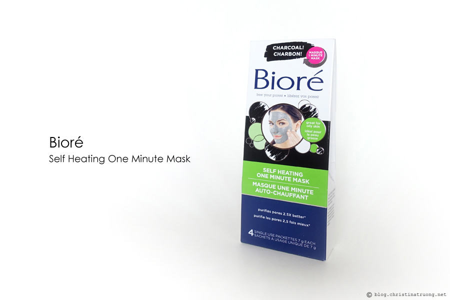 Biore Charcoal Self Heating One Minute Mask First Impression Review