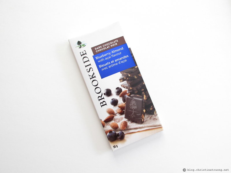 Brookside Chocolate Tablet Bars Review Blueberry Almond with Acai Flavour