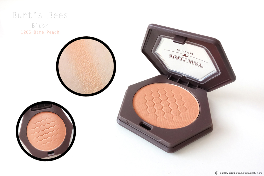 Burt's Bees Beauty Blush Review and Swatch 1205 Bare Peach Eyeshadow