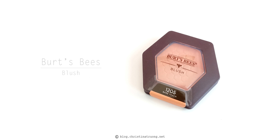 Burt's Bees Beauty Blush Review and Swatch 1205 Bare Peach