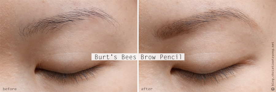 Burt's Bees Beauty Brow Pencil Review Swatch Before After in 1610 Brunette