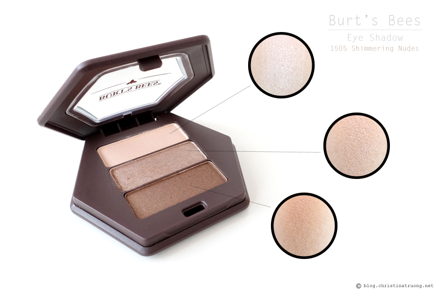 Burt's Bees Beauty Eye Shadow Review and Swatch 1505 Shimmering Nudes