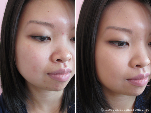 COVERGIRL Clean Matte BB Cream for Oily Skin 530 light/medium first impression review Before and After Application