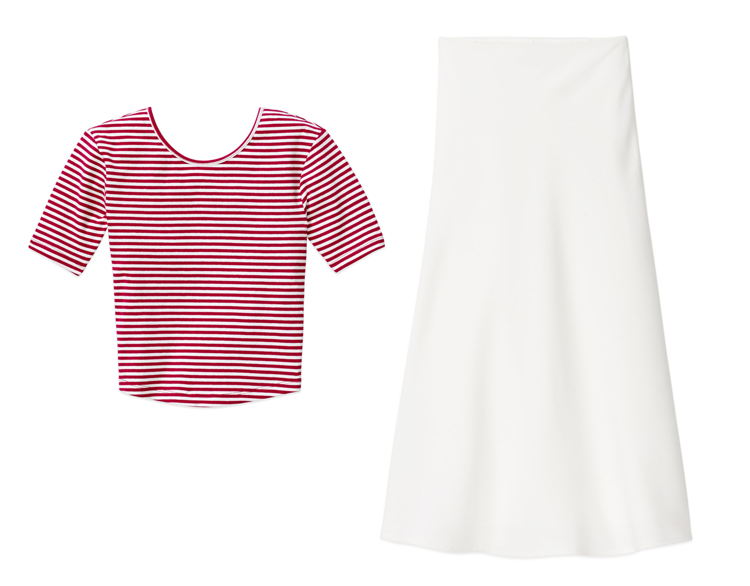 Celebrate Canada Day Fashion Style Aritzia Sunday Best Jong T-Shirt, Babaton Reilly Skirt