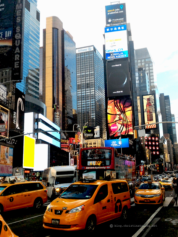 Christina Truong Blog. Touring New York City Photography Skyline Times Square