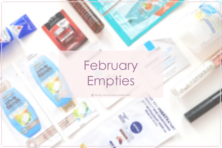 Set a goal and go! February 2018 Empties and Review.