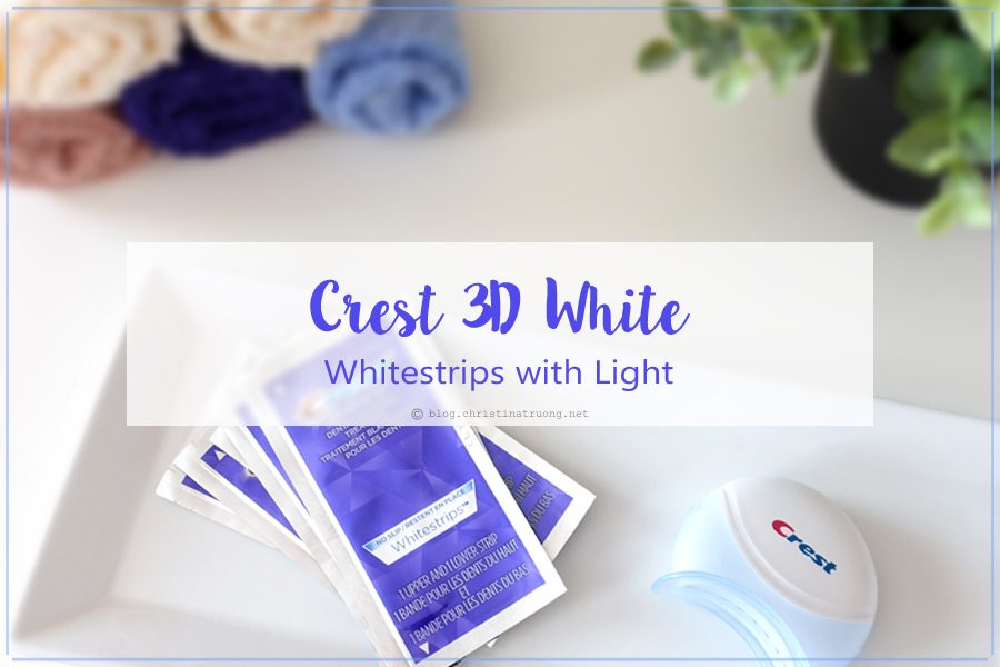 Crest 3D White Whitestrips with Light Teeth Whitening Kit Review