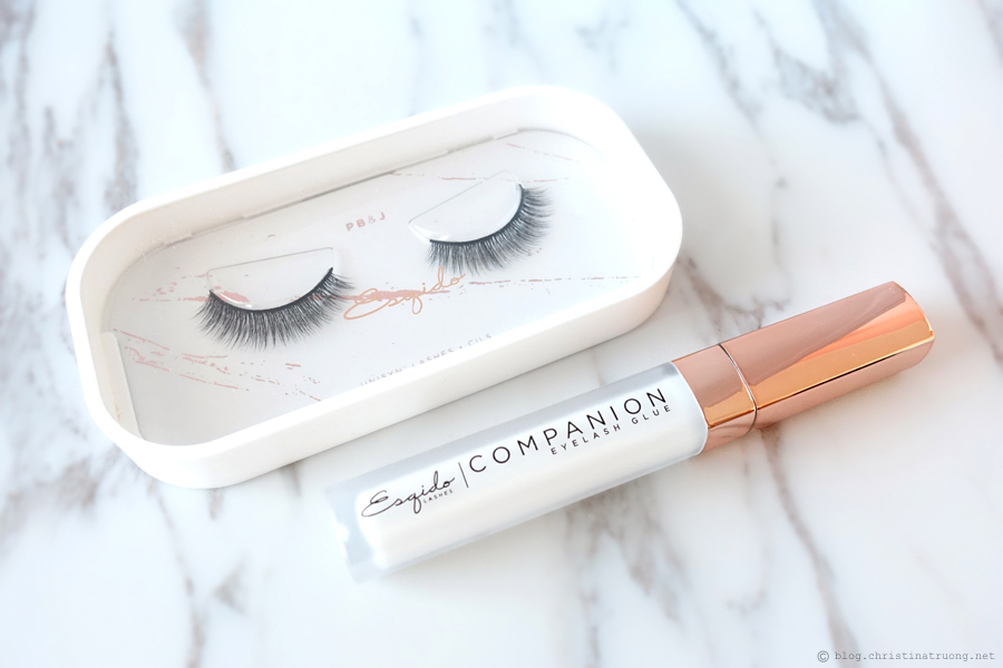 Esqido Unisyn Synthetic False Eyelashes PB & J and Companion Eyelash Glue Review