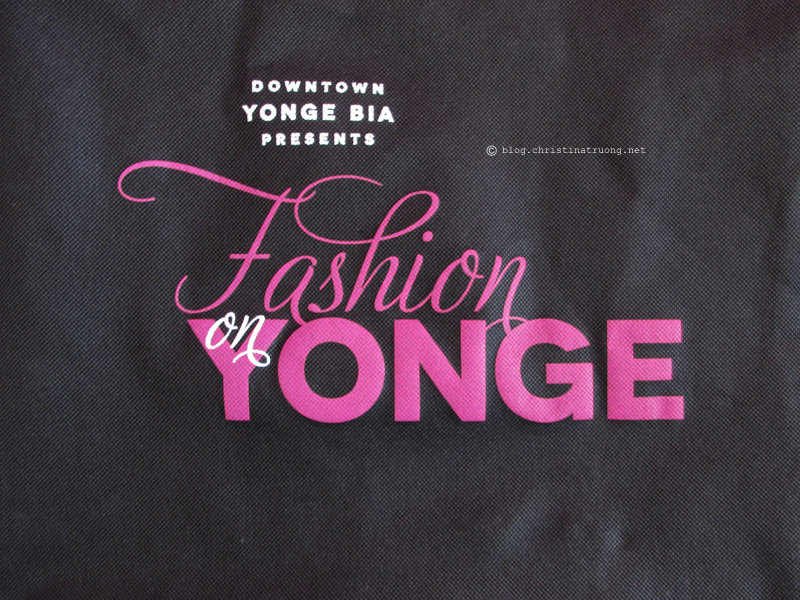 Fashion on Yonge 2016 Swag Bag