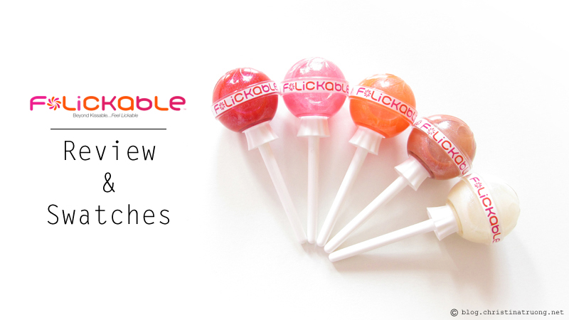 Review and Swatches of Flickable Lip Gloss. Available exclusively at Hudson's Bay