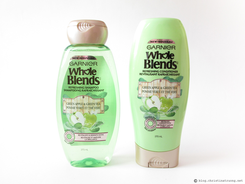 Garnier Whole Blends Refreshing Green Apple and Green Tea Shampoo Conditioner Review