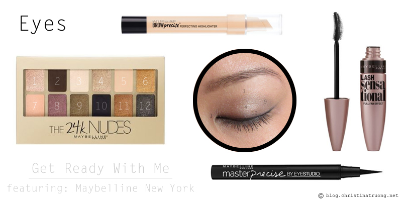 Get Ready With Me featuring Maybelline New York Products 24K Nudes Eyeshadow Palette Brow Precise Perfecting Highlighter Eyestudio Master Precise Liquid Eyeliner Lash Sensational Wearable Mascara