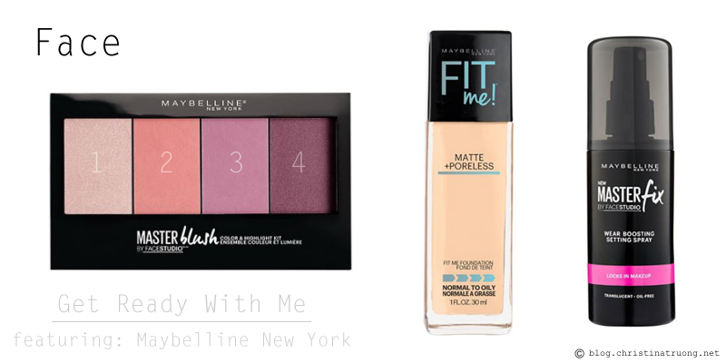 Get Ready With Me featuring Maybelline New York Products Fit Me Matte Poreless Foundation 128 Warm Nude Facestudio Master Blush Color Highlight Kit Master Fix Wear Boosting Setting Spray