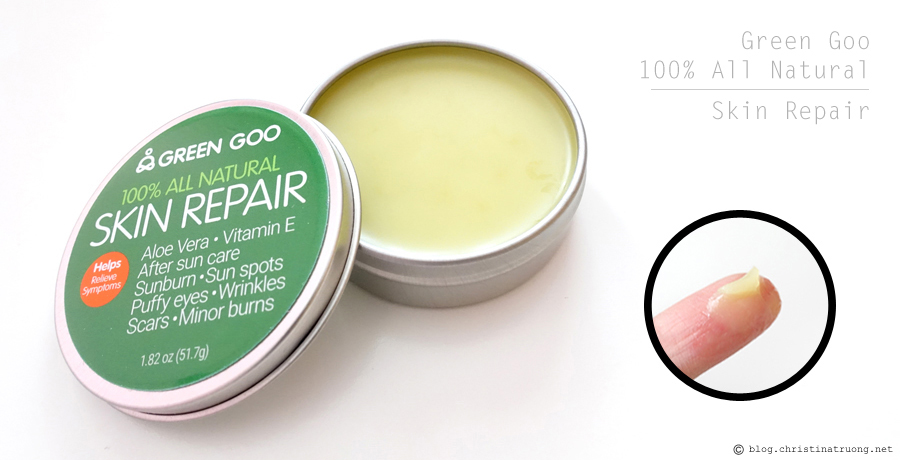 Green Goo by Sierra Sage 100% All Natural Skin Care - Skin Repair Product Review.