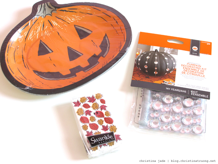 Halloween Home Decor DIY Craft Celebrate October Pumpkin Party Target Pumpkin Dinner Plates, Autumn Pocket Tissues, Pumpkin Decorating Kit