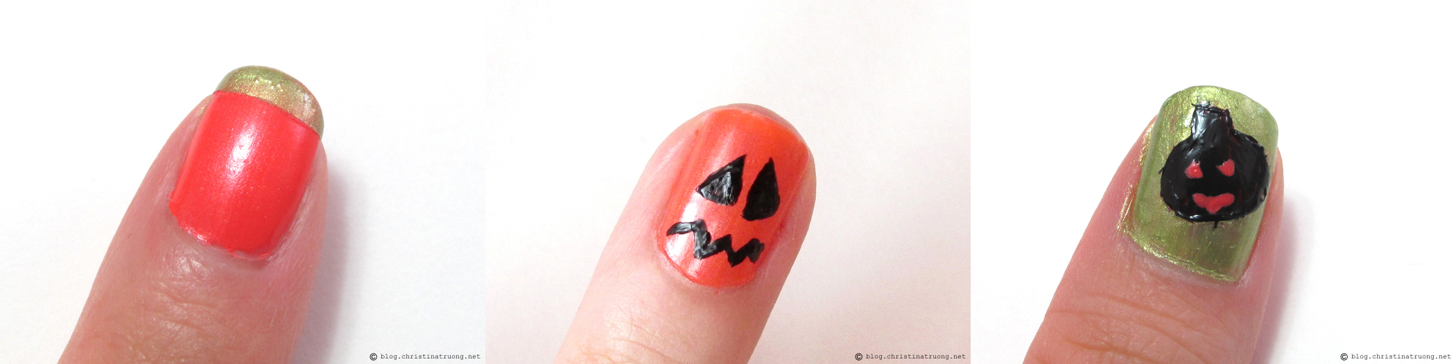Halloween Inspired Nail Art using Crabtree and Evelyn Nail Lacquer
