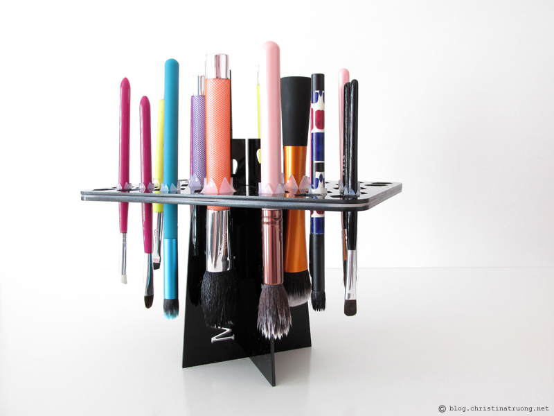 Find out how to clean makeup brushes. Makeup brush drying stand tower