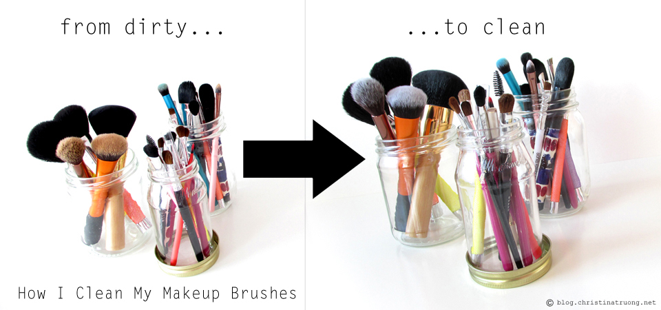 From dirty to clean, how to clean makeup brushes