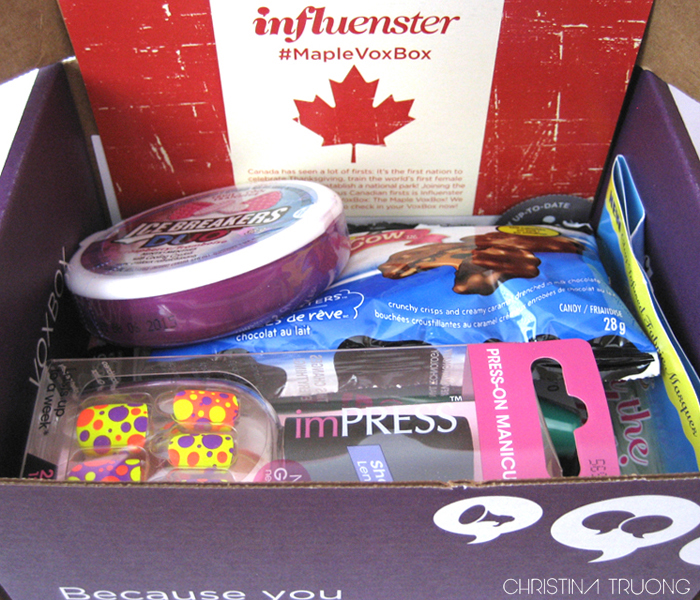 Unboxing of The Maple VoxBox - Influenster nation's first Canadian VoxBox! #MapleVoxBox