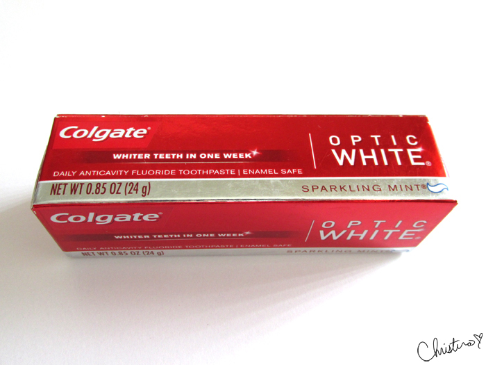 Influenster MegaVoxBox Colgate Optic White Sparkling Mint