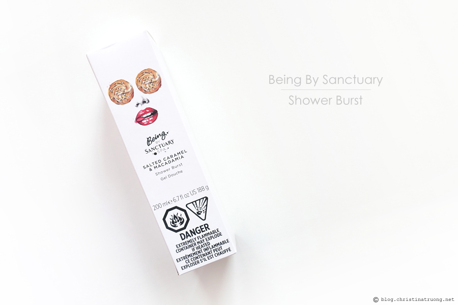 Being by Sanctuary Spa Salted Caramel and Macadamia Shower Burst Review