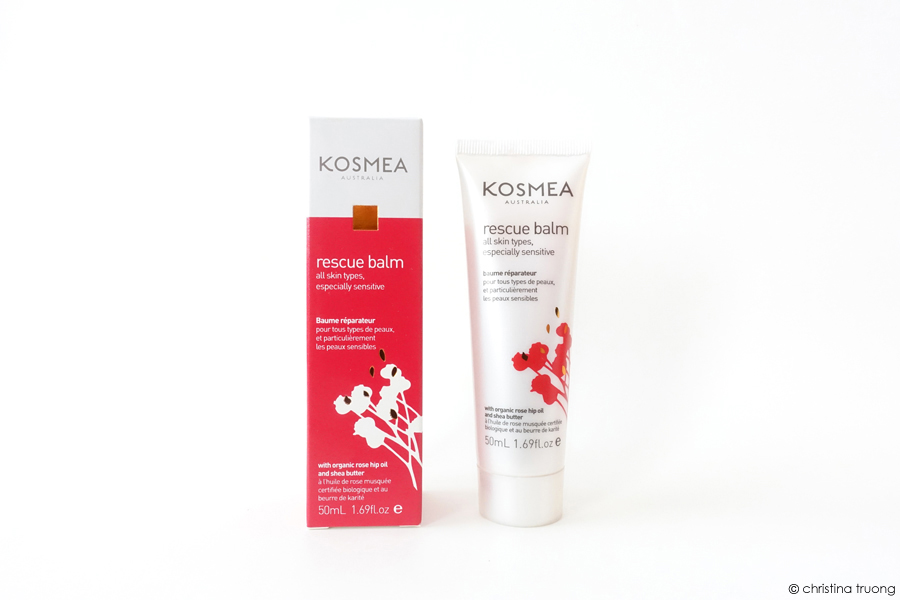 Kosmea Rescue Range Skincare Review featuring Kosmea Rescue Balm.