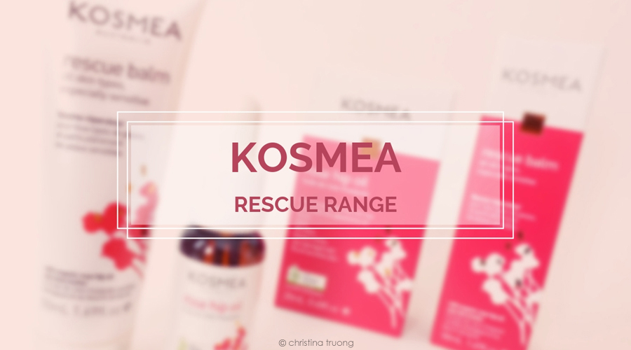 Kosmea Rescue Range Skincare Review featuring Kosmea Rescue Balm and Rosehip Oil.