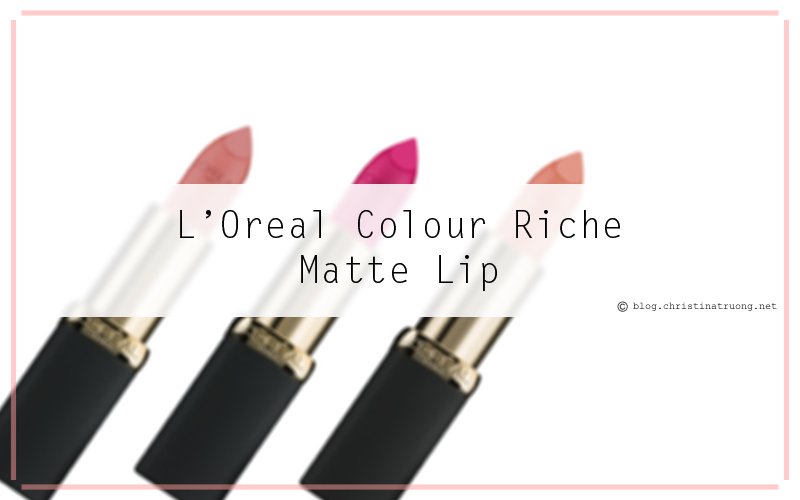 Pucker up with L'Oreal Colour Riche Matte Lipstick. Review and Swatches of 712 Matte Mandate, 800 Matte-Caron, 802 Matte-Sterpiece