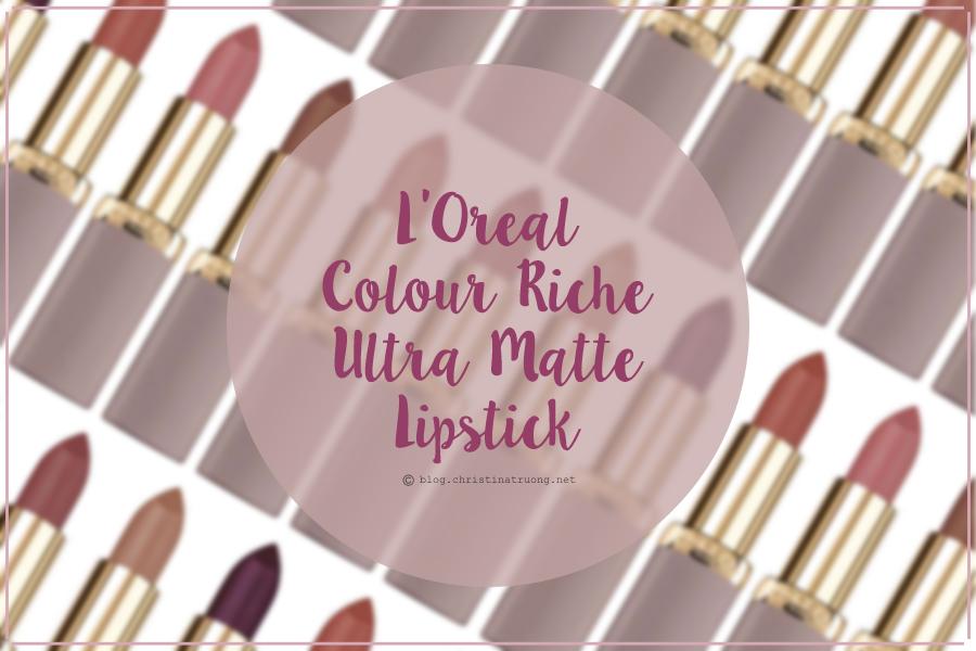 L'Oreal Colour Riche Ultra Matte Lipstick