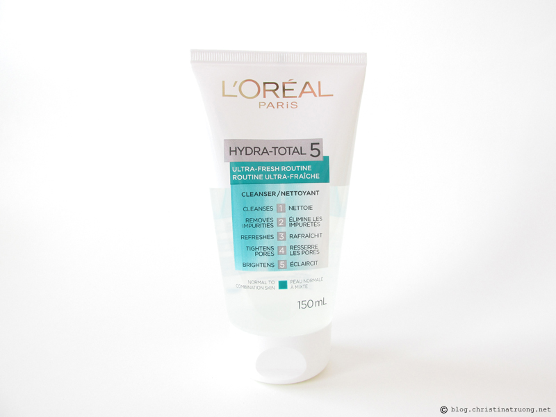 L'Oreal Paris Skin Care Expert Hydra Total-5 Ultra-Fresh Ritual Cleanser Review Influenster
