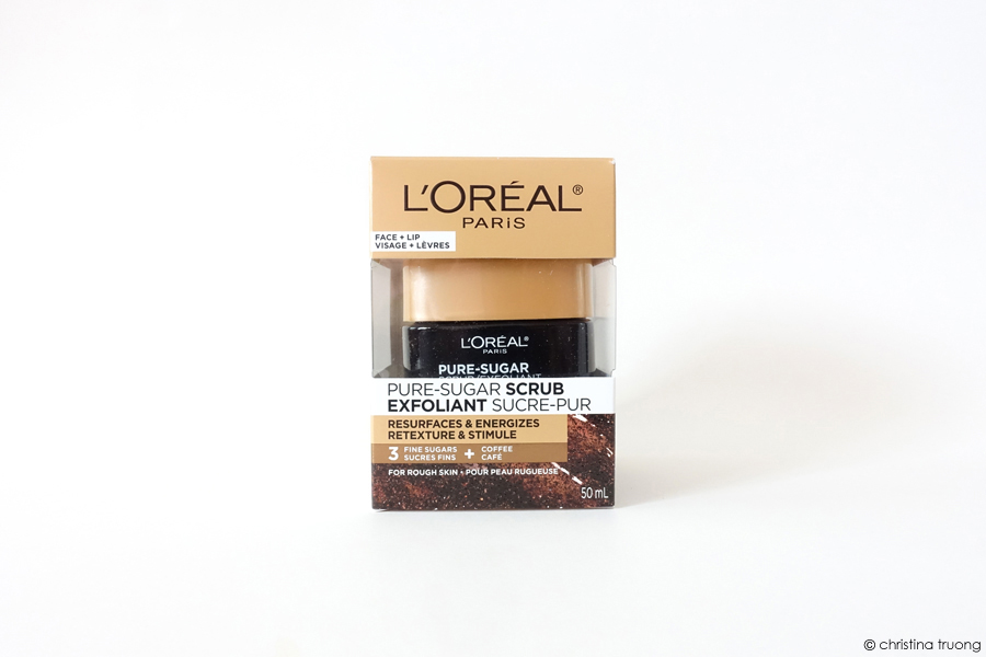L'Oreal Paris Pure-Sugar Scrub - Resurfaces & Energizes. 3 Fine Sugars and Coffee Scrub for Rough Skin Face and Lips. Coffee Sugar Scrub Do It Yourself DIY Recipe