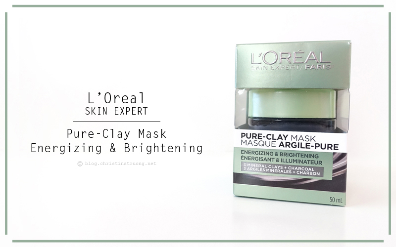 L'Oreal Pure-Clay Cleansing Mask Energizing and Brightening for Dull and Tired Skin Review