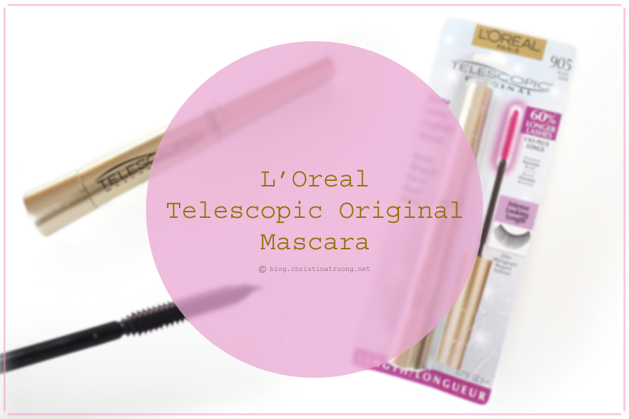 Intense Looking Lengthening Mascara - L'Oreal Paris Telescopic Original Mascara 905 Black Review and Application