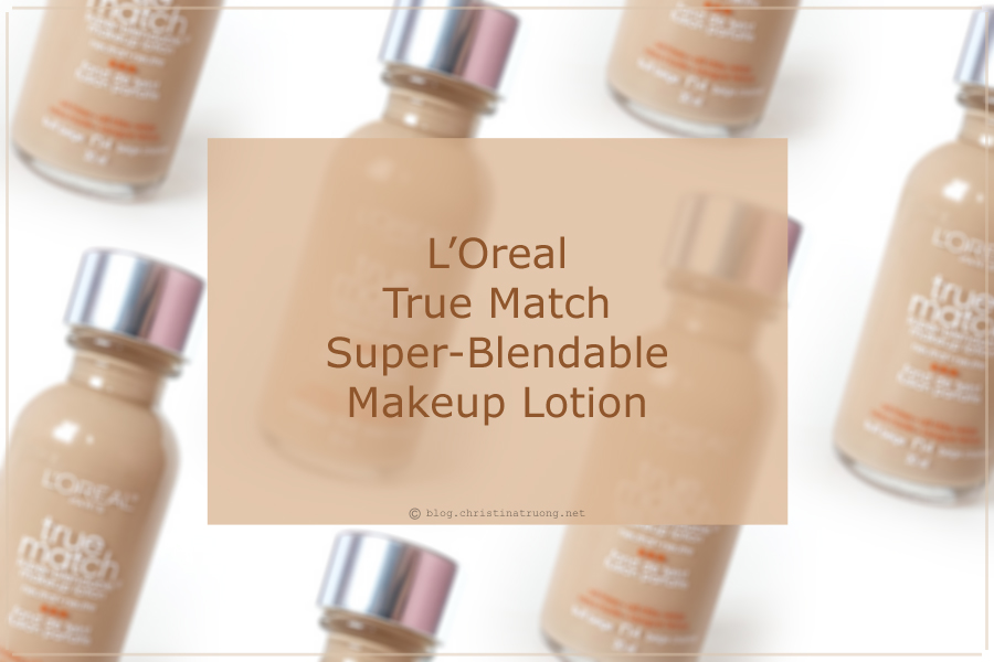 L'Oreal True Match Super-Blendable Makeup Lotion Foundation in N4 Buff Beige review, swatch and application