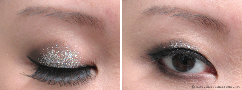 Let Your Eyes Sparkle - Eye makeup for the holidays. How to apply halo smokey eye glitter for Monolid eyes