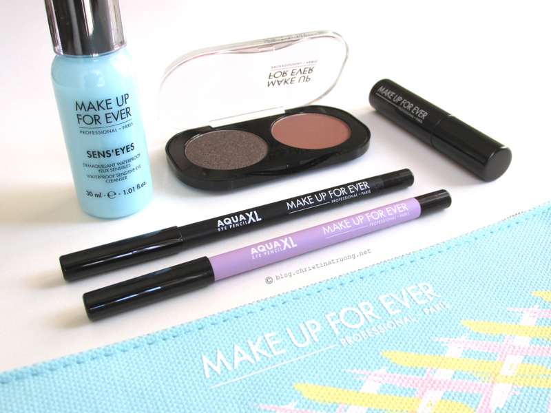MAKE UP FOR EVER Aqua XL Eye Pencil Waterproof Eye Liner in M-10 Matte Black and M-92 Matte Pastel Purple Review