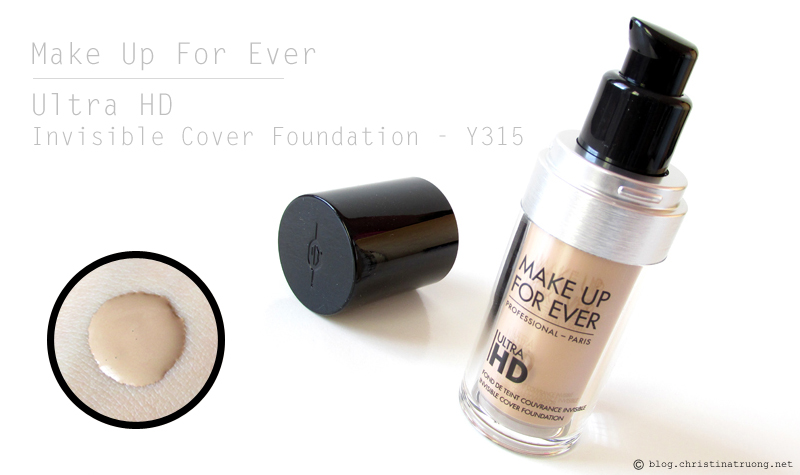 MAKE UP FOR EVER Ultra HD Invisible Cover Foundation 125 Y315 Review