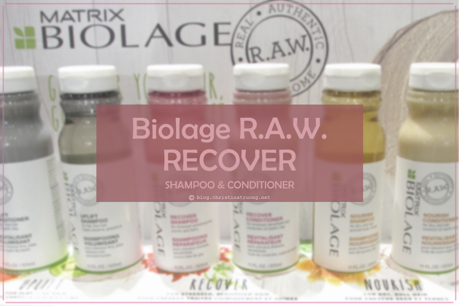 Matrix Biolage R.A.W. Recover Shampoo and Conditioner Review