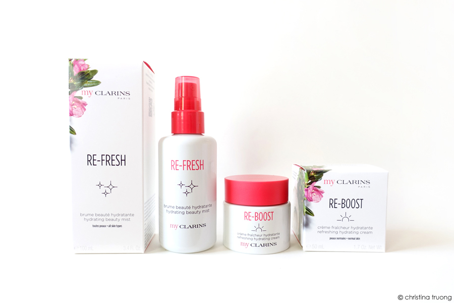 My Clarins Re-Fresh Hydrating Beauty Mist and Re-Boost Product Refreshing Moisturizing Cream Product Review