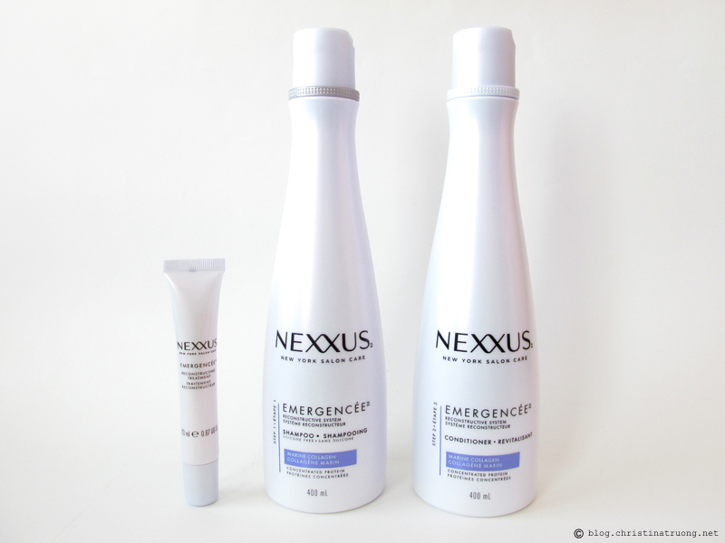NEXXUS Emergencee Reconstrucive System. Recondtructing Treatment, Rebalancing Shampoo, and Restoring Conditioner Review