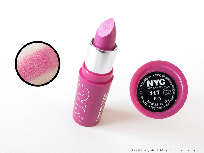 New York Color Expert Last Lipstick Swatches 417 Flirty