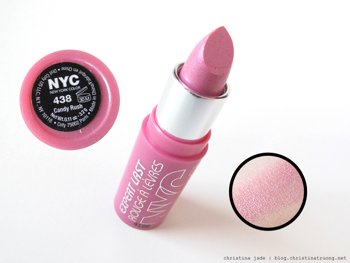 New York Color Expert Last Lipstick Swatches 438 Candy Rush