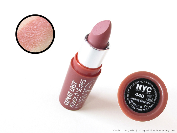 New York Color Expert Last Lipstick Swatches 440 Creamy Caramel